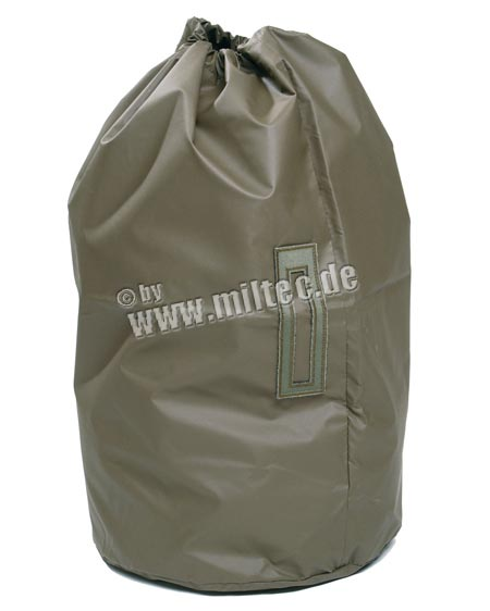 91414150 - Swiss OD Rubber Sleeping Bag/Transport Bag Used.